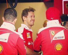 Sebastian Vettel all smiles in the Ferrari garage this morning, ahead of the Canadian GP. __________  In other news, Seb has tipped Germany to beat Ukraine 2:0, at #Euro2016 today :) __________  #SebastianVettel #Vettel #Seb5 #SV5 #ForzaSeb #SebVettel #TeamVettel #F1 #Formula1 #FormulaOne #Formel1 #FormulaUno #Formule1 #ScuderiaFerrari #SF16H #Ferrari #Scuderia #ForzaFerrari #RedSeason #PrancingHorse #F12016 #Motorsport#CanadianGP #CircuitGillesVilleneuve #DieMannschaft