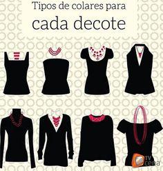 Tipos de colar para cada tipo de decote! ;)