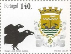 Sello: Lisboa (Portugal) (Coats of arms of the districts of Portugal) Mi:PT 2211,Yt:PT 2189,Afi:PT 2443