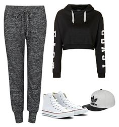 """""""Untitled #6"""" by whartonclara34 on Polyvore featuring Velvet by Graham & Spencer, Topshop, adidas and Converse"""