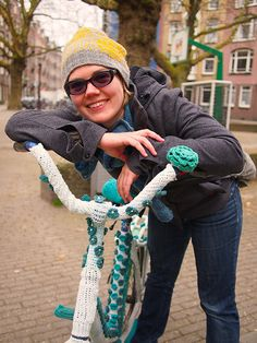 Knitted bike frame cover! Photo: Ysolda Teague, via Flickr