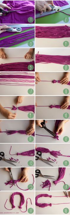 How to make a necklace out of an old t-shirt (image 3/3) #diy #accessories…