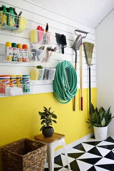 20+ Clever Ideas for a Super Organized Garage | Your garage is a hardworking space. It's where you keep your sports equipment, your tools, your gardening supplies, your out-of-season decorations. Here are ideas to get stuff organized — and maybe even make room for your car.