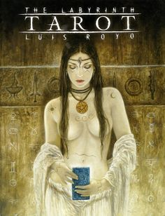 Fournier The Labyrinth Tarot Deck By Luis Royo Lo Scarabeo The Hierophant, Labyrinth, Drawn Art, Free Tarot, Luis Royo, Tarot Learning, Spanish Artists, Major Arcana, Fantasy Illustration
