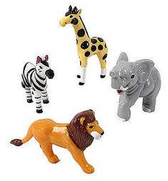 Jungle Animal Cake Toppers Set/4