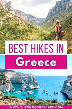 Looking for the best hikes in Greece? Check out these seven epic walking trails showcasing imposing mountains, dramatic gorges and beautiful coastlines of Greece! Hiking in Greece | Greece travel tips | Greece travel blog | Greece travel guide | Crete Greece hiking | Milos Greece hiking | Greece budget travel | Santorini hiking | Naxos hiking | Meteora hiking | Europe travel 2020 | Europe hiking