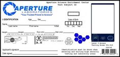 Aperture Science ID Card by SinCityFan on deviantART