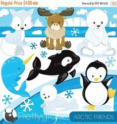 80 % OFF SALE arktischen Tiere Clipart kommerzielle Nutzung