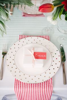 Bridal Shower Inspiration with a Fresh Pop of Color by Lindsey Brunk (Event Design), Color Pop Events (Event Plannin) + Brklyn View Photography (Glasses & Flatware: Fishy's Eddy)
