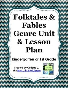 FREE & updated! - This lesson plan is for the whole genre study unit I teach on folktales and fables that lasts 5 or 6 40-minute library class periods that include reading the story, book exchange, and students doing the response activity.