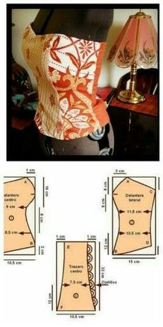 Corset pattern but maybe the base for topless gown. how to add bonding to top of a dress. Comments in Topic Sewing Hacks, Sewing Tutorials, Sewing Crafts, Sewing Projects, Motif Corset, Corset Pattern, Dress Sewing Patterns, Blouse Patterns, Clothing Patterns