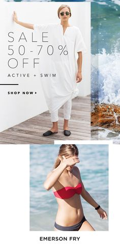 Active and Swim Sale! Email Design, Sale 50, Spring Collection, Email Marketing, Edm, Editorial, Advertising, Product Launch, Swimming