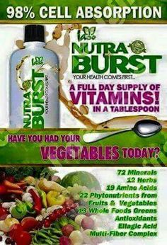 We often have little time, money, or ability to prepare nutrient rich meals. Just one tablespoon of Nutra Burst each day makes it easy to meet your nutritional needs. www.totallifechanges.com/ddd2c