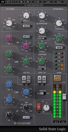 Modeled under license from Solid State Logic, the SSL G-Channel strip plugin brings the unmistakable EQ and dynamics of SSL G Series consoles to your computer. Wave Studio, Studio Gear, Waves Plugins, Foley Sound, Game Ui Design, Design Web, Graphic Design, Systems Art, Music Software