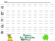 FREE St. Patrick's Day Handwriting Practice- Kindergarten & 1st Grade - Melissa Williams - TeachersPayTeachers.com