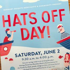 Hats off day! 🎩 The Burnaby clinic is still open this Saturday, June Please plan your trip ahead of time as Hastings St. will be closed all day for the event. Come join the festivities and drop by to meet our physios! Set Sail, Free Fun, Plan Your Trip, Clinic, You Got This, June, Meet, Drop, How To Plan