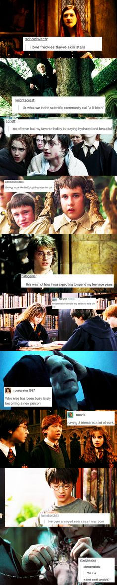 Harry Potter + Text Posts Harry Potter Texts, Harry Potter Funny Pictures, Text Posts, Rose, Movie Posters, Movies, Text Messages, Pink, Films