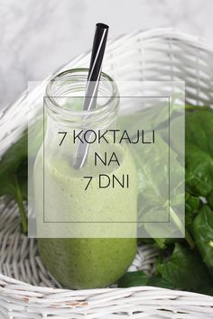 Jak zrobić idealny koktajl. 7 koktajli na 7 dni. Energy Smoothies, Smoothie Drinks, Weight Loss Smoothies, Fruit Smoothies, Healthy Smoothies, Smoothie Recipes, Raw Food Recipes, Healthy Recipes, Healthy Food