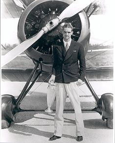 Howard Hughes (1905 - 1976) was known for making big-budget, controversial films in the 1920's and was also one of the most influential aviators in history, setting many air speed records.
