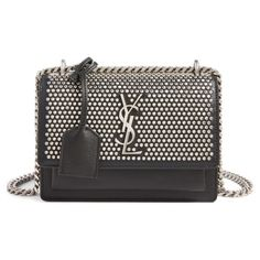 c580f29a9546 small sunset studded leather shoulder bag by Saint Laurent. As central to  your life as a handbag is