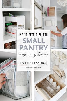 My 10 Best Tips for Small Pantry Organization Sustainable and practical ideas to organize and keep your tiny pantry cupboard organized and lookin' good! Lessons learned while I had to make the most of every inch of space while living in our RV with a fami Deep Pantry Organization, Pantry Storage, Organization Ideas, Pantry Ideas, Storage Ideas, Cupboard Ideas, Kitchen Countertop Organization, Storage Design, Cabinet Ideas