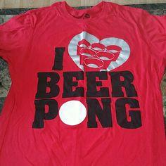 Sz XL I ? Beer Pong Juniors top Sz XL I ? Beer Pong Juniors Top Spencers Tops