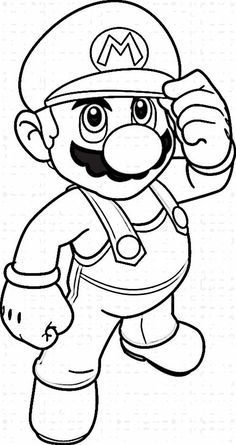 Mario Bros Kleurplaten.Mario Bross Kleurplaten 1 Super Mario Coloring Pages