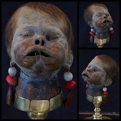 Real shrunken head of a child, crafted by the Shuar peoples of Ecuador. Creepy, Scary, Shrunken Head, Head Hunter, Natural Selection, Lost Soul, Memento Mori, Voodoo, Macabre