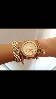 Jewels: gold jewlery charm bracelet