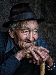 Sweet memories, portrait picturing an old man
