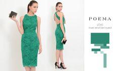 Rochie eleganta cu dantela fina verde http://shop.poema.ro/rochie-cu-dantela