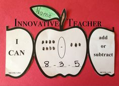 This Apple Math product includes apple templates that can be used for either your Kindergarten or First grade students. (Adding or Subtracting)