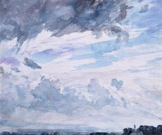 Study of clouds above a wide landscape, by John Constable (V&A Custom Print)