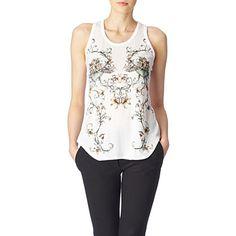 <33 ALEXANDER MCQUEEN Baroque-print vest (White