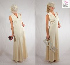 Casual Vintage Wedding Dress with Collar by TheLoveBucketSA, $90.00