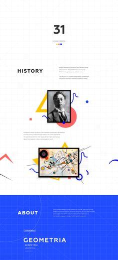 Agency's website: in homage to Kandinsky on Behance Jobs Apps, Website Design Inspiration, User Interface Design, Kandinsky, Presentation Design, Personal Branding, Portfolio Design, Web Design, Graphic Design