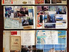 TheOverlap, exhibit of travel scrapbook/journals at Book246 (a travel-themed bookstore) in Tokyo
