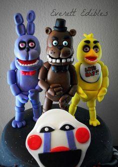 5 Nights At Freddys Cake 4-2015 | Flickr - Photo Sharing! Five Nights At Freddy's Birthday Cake Freddy Chica Bonnie FNAF