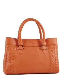 Shopping cabas Grained Nathan baume Orange