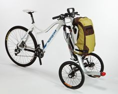 The S-cargo is a prototype carrier that converts a conventional bicycle into a cargo tricy...