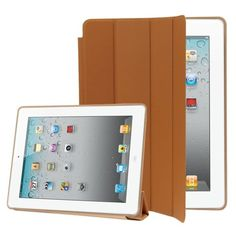 For+iPad+4/3/2+Brown+4-folding+Slim+Smart+Cover+Leather+Case+with+Holder