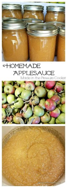 You won't believe how easy it is to make homemade applesauce in your pressure cooker or instant pot! I've got step-by-step directions for you! If you want to water bath can the applesauce when you are done making it, I've got your back for that, too! Click through to the post to check it out!