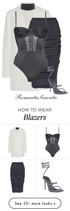 """Chic"" by romaritasenorita on Polyvore featuring Lanvin, Rick Owens, Chantal Thomass and René Caovilla"