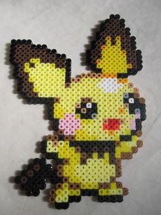 Cutzie Pichu in hama beads