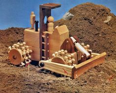 Wooden Roadbed Compactor - Children's Wooden Toy Plans and Projects | WoodArchivist.com
