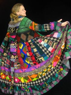 Katwise sweater coat. Not one single solid piece, nothing but prints. Love the craziness of it!