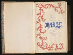 Forgotten Bookmarks: Marie