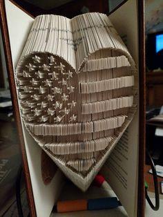 Stars and Stripes USA Cut & Fold or Combi Book Folding