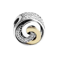 Fits Famous Bracelet Charms New Beads for Jewelry Making Interlinked Circles Charm 100% 925 Sterling-Silver-Jewelry FL523K