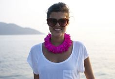 Pink Spikey Necklace